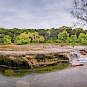 Panorama Of Link Falls At Upper Bull Creek District Greenbelt Park - Austin Texas Hill Country Art Print