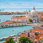 Panoramic Aerial Cityscape Of Venice Art Print