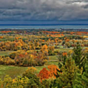 Panoramic Autumn View Art Print