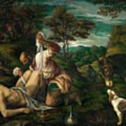 Parable Of The Good Samaritan  Art Print