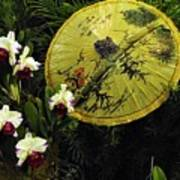 Parasol Among The Orchids Art Print
