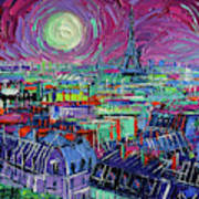 Paris By Moonlight Art Print
