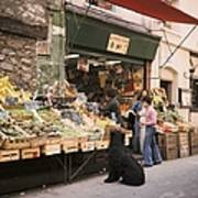 Paris, Fruit And Vegetable Shop In The Art Print