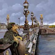 Paris-pont Alexandre Terzo Art Print