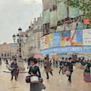Paris, Rue Du Havre Circa 1882 Art Print