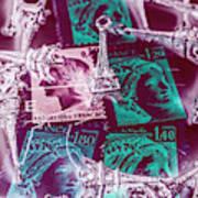Parisian Postmarks Art Print