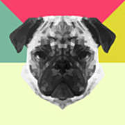 Party Pug Art Print