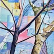Patchwork Trees Art Print