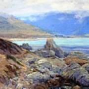Path Along The Shore Art Print