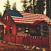 Patriotic Bar And Grill Art Print
