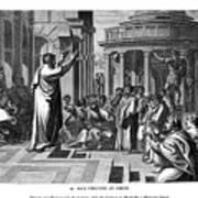 Paul Preaching At Athens, 1843.artist J Art Print