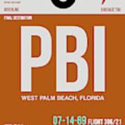 Pbi West Palm Beach Luggage Tag II Art Print