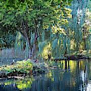 Peaceful Oasis - Japanese Garden Lake Art Print