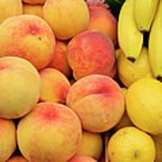Peaches, Lemons And Bananas At Farmers Art Print