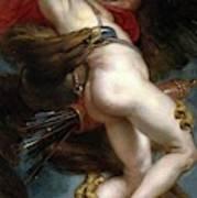 Pedro Pablo Rubens / 'the Rape Of Ganymede', 1636-1637, Flemish School, Oil On Canvas. Art Print