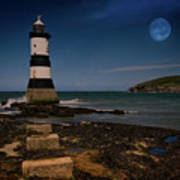 Penmon Lighthouse And Puffin Island Art Print