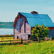 Penn Cove Barn Art Print