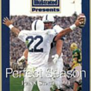 Penn State University Brian Milne, 1994 Ncaa Perfect Season Sports Illustrated Cover Art Print