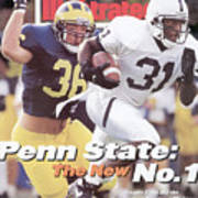 Penn State University Freddie Scott Sports Illustrated Cover Art Print