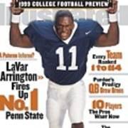 Penn State University Lavar Arrington, 1999 College Sports Illustrated Cover Art Print