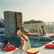 Penthouse Pool Art Print