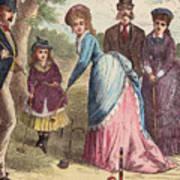 People Playing Croquet Art Print