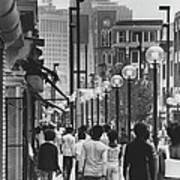 People Walking Before Baltimore Mall Art Print