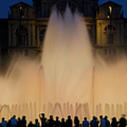 People Watching Fountain, Palace Of Art Print