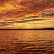 Percy Priest Lake Sunset Art Print
