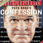 Pete Rose, Baseball Sports Illustrated Cover Art Print