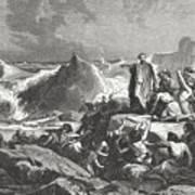 Pharaohs Downfall In The Red Sea Exodus Art Print