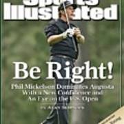 Phil Mickelson, 2006 Masters Sports Illustrated Cover Art Print