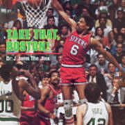 Philadelphia 76ers Julius Erving, 1982 Nba Eastern Sports Illustrated Cover Art Print