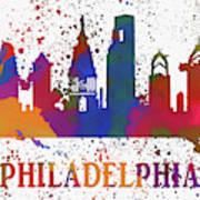 Philly Color Splash Art Print