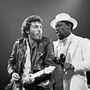Photo Of Bruce Springsteen And Clarence Art Print