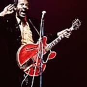 Photo Of Chuck Berry Art Print