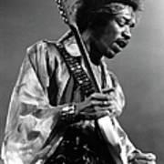 Photo Of Jimi Hendrix And Jimi Hendrix Art Print