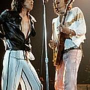 Photo Of Keith Richards And Mick Jagger Art Print