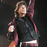 Photo Of Mick Jagger And Rolling Stones Art Print