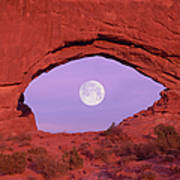 Photographer At Window At Arches Art Print
