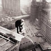 Photographer Atop Skyscraper Art Print