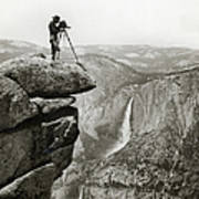 Photographer In Yosemite Valley Art Print