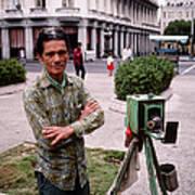 Photographer Near Plaza De La Revolucion Art Print