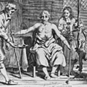 Physicians And Patient During Early Art Print