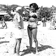Picasso And Bikini-clad Woman On The Art Print