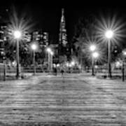 Pier 7 In Black And White Art Print
