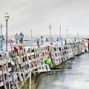 Piers To Be Cold Art Print