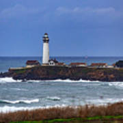 Pigeon Point Light Station In San Mateo County Ca Art Print