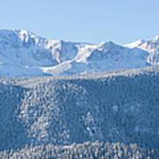 Pikes Peak In Fresh Snow Art Print
