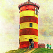 Pilsum Lighthouse Leuchtturm  Art Print